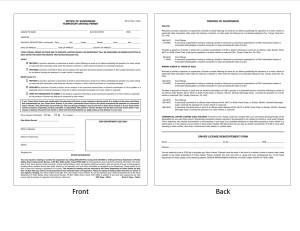 Houston DWI Lawyer ALR hearing Form