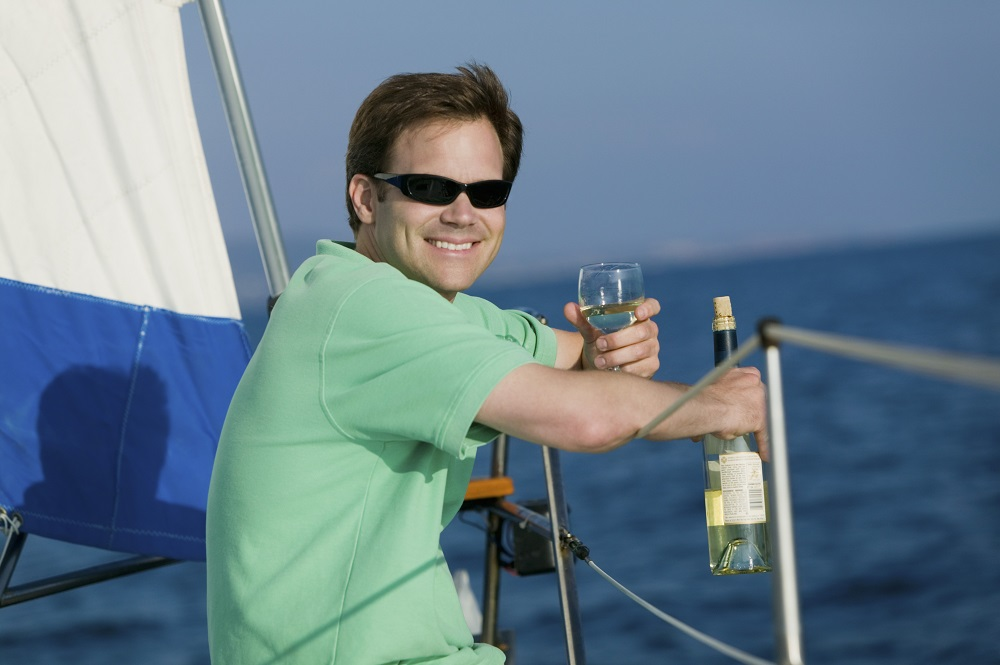 drinking on boat